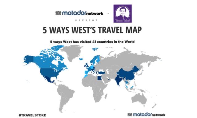 Travel Map april 2016 finally